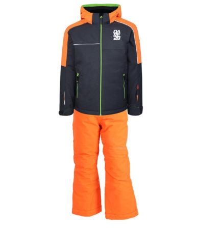 Dare 2B Completo sci bambino Labyrinth Jacket Ebony Grey Orange Take On pant – 2019