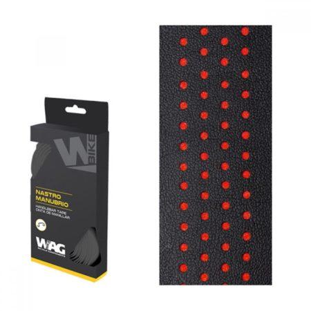 WAG nastro manubrio, double nero e rosso