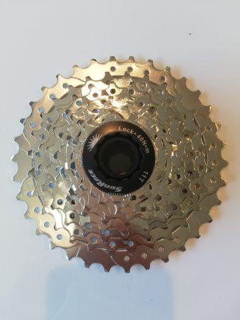 Sunrace pacco pignoni 9 velocità 11-37, colore silver