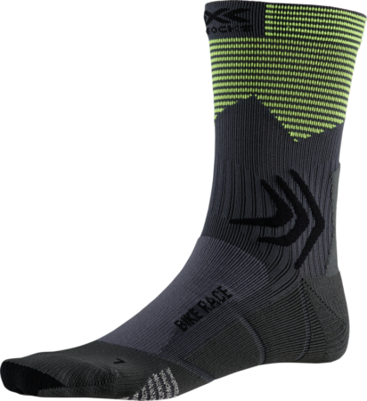 X-BIONIC calzini bike uomo Bike Race Socks Charcoal / Phyton Yellow – 2019