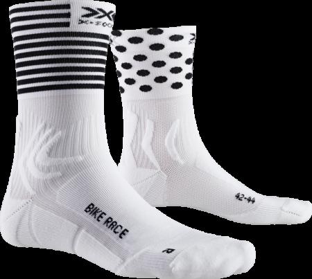 X-BIONIC calzini bike uomo Bike Race Socks bianco/nero – 2019