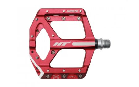 HT-COMPONENTS coppia pedali flat Supreme ANS10, red