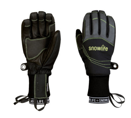 Snowlife Guanti sci Flow DT glove black lime