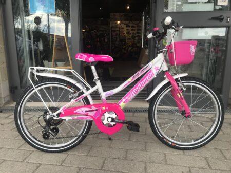 Bici bambina Lombardo Cremona 20″ bianco-rosa