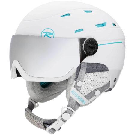 Rossignol Casco sci donna con visiera Allspeed Visor Impacts w white – 2021