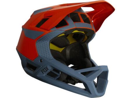 FOX casco bike Proframe Quo blu – arancione 2021