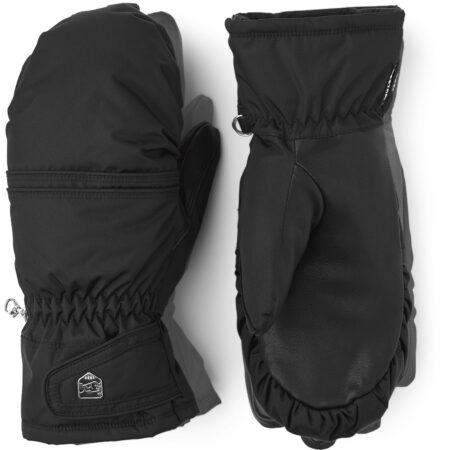 Hestra Guanti sci moffola donna Primaloft Leather Mitt black – 2021