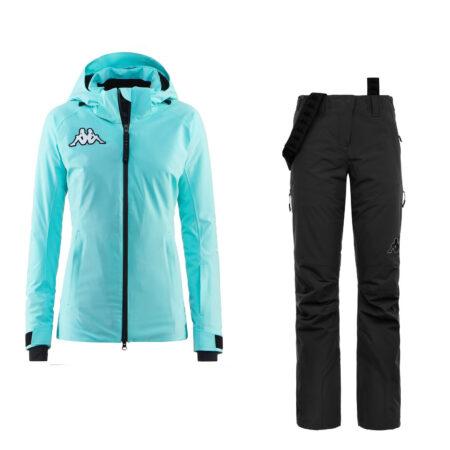 Kappa woman's ski set 6CENTO 610 azure 6CENTO 665 black – 2021