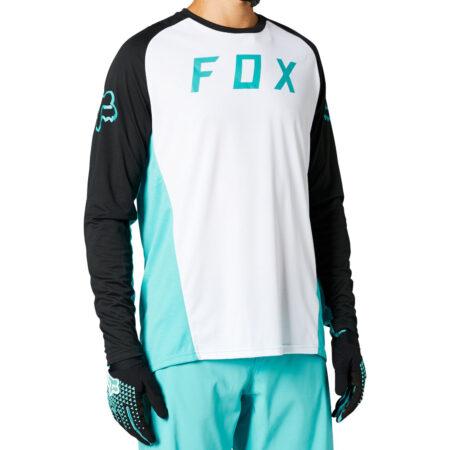 FOX bike long sleeve jersey Defend LS jersey white- 2021