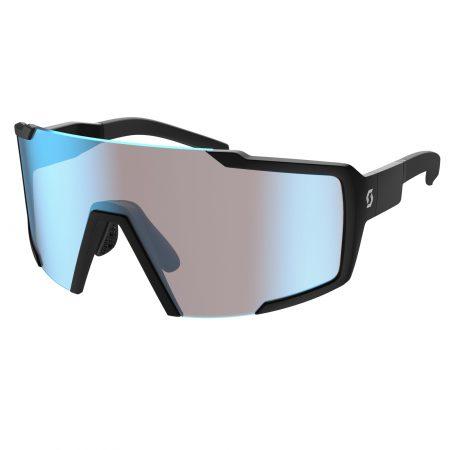 SCOTT occhiali bike SHIELD nero matt blue chrome amplifier