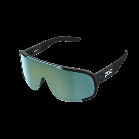 POC occhiali bike ASPIRE Uranium Black Translucent Clarity Road Deep Green Cat 3